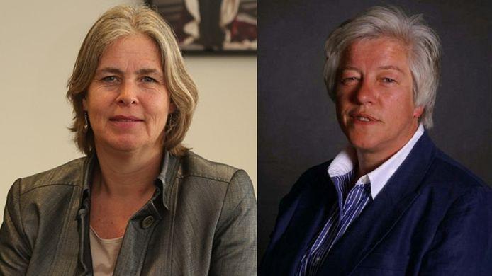 Astrid Nienhuis (l) en Annelize van der Stoel (r).
