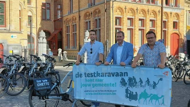 70 Poperingenaars testen elektrische fiets of speedpedelec dankzij de Testkaravaan