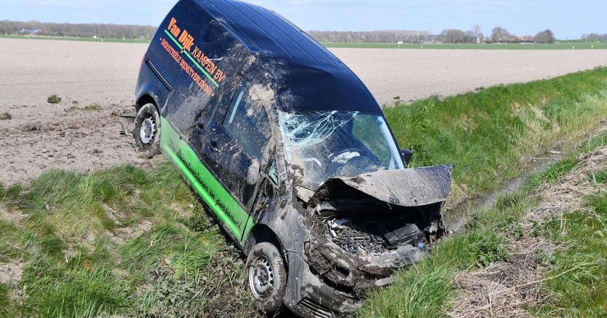 Automobilist gewond bij ongeluk op N307 bij Swifterbant.