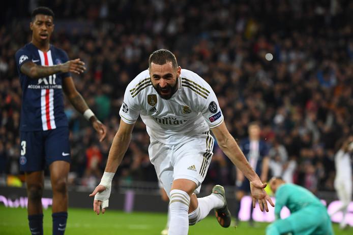 Karim Benzema, premier buteur contre le PSG en Ligue des Champions cette saison.