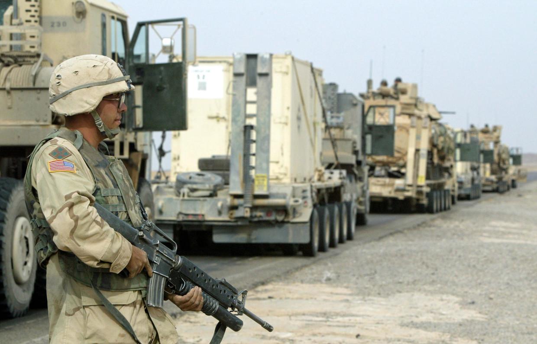 Amerikaanse soldaten in Irak. Beeld EPA