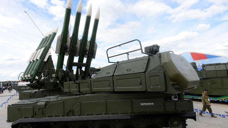 Een Russisch BUK-raketsysteem. Beeld afp