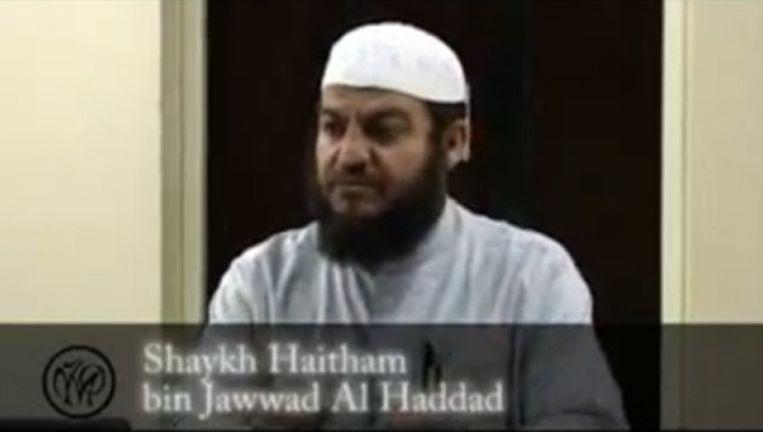 Haitham al-Haddad in een video op YouTube Beeld