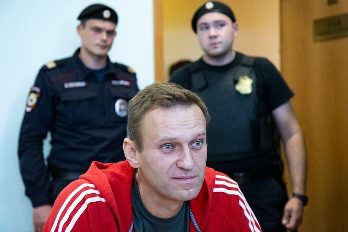 Aleksej Navalny, vorig jaar in een rechtbank in Moskou.