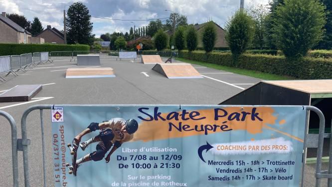 Un parking transformé en skate park à Neupré