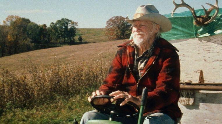 The Straight Story - Film (USA/GBR/FRA-1999) - David Lynch - Caption: Richard Farnsworth (Alvin Straight) Beeld TMDb