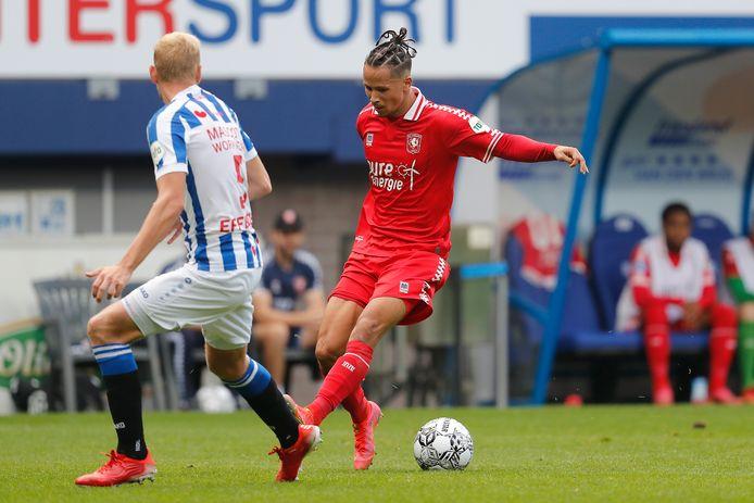 Luca Everink maakte tegen Heerenveen zijn basisdebuut.