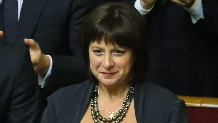 De inderhaast genaturaliseerde Natalia Jaresko mag Financiën leiden.