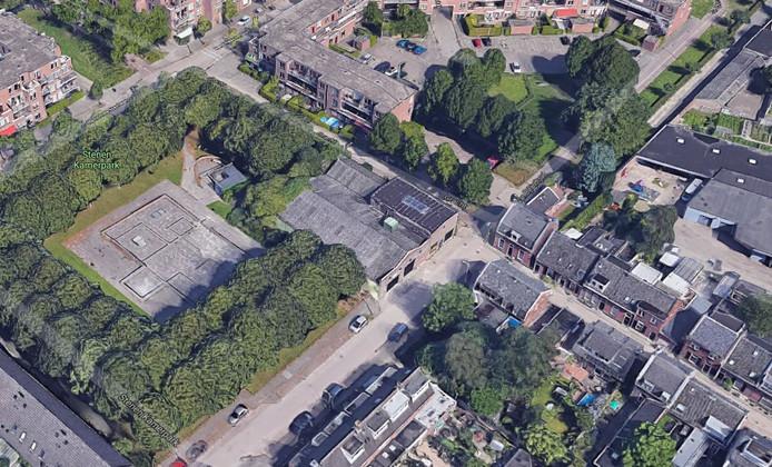 Het betreffende pand van Teurlings aan de Van Bylandtstraat in Tilburg.