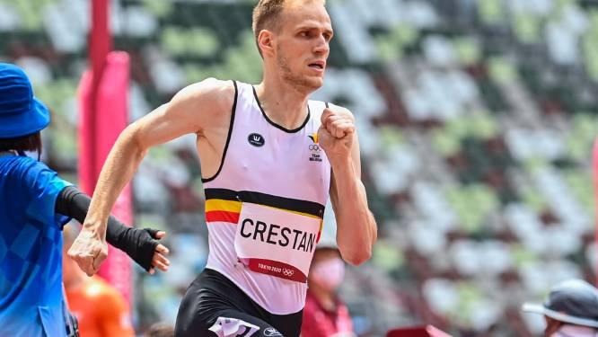 """""""Ik heb heel de nacht geen oog dicht gedaan van de stress:"""" toch spurt Eliott Crestan naar halve finale 800m bij olympisch debuut"""