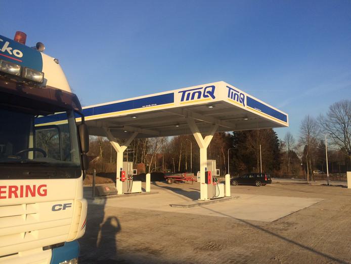 Tankstation TinQ op het Foodcourt Uden gaat woensdag, uiterlijk donderdag, open.