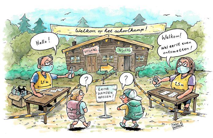Schoolkampen in coronatijd