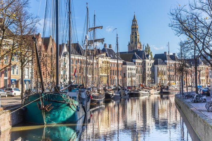 De binnenstad van Groningen.