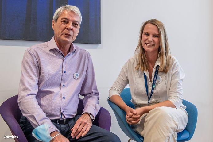 Dirk Fouquet en Laura Standaert van het OLV-ziekenhuis.