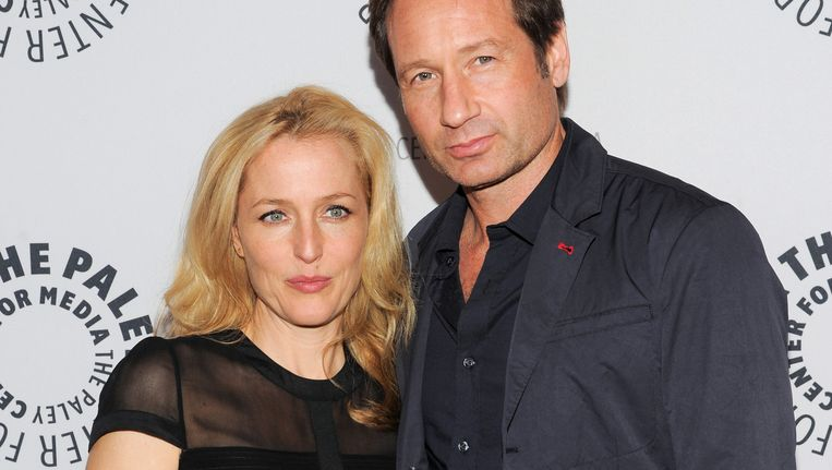 Gillian Anderson en David Duchovny Beeld ap