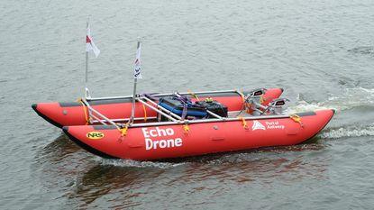 Nieuwste peilboot vaart volledig zelfstandig