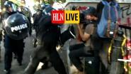 HLN LIVE. Cameraman wordt hardhandig aangepakt door Amerikaanse politie