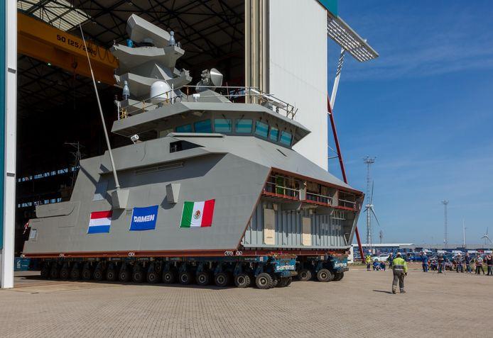 Archieffoto: in Vlissingen zijn twee modules voor een Mexicaanse fregat gebouwd.