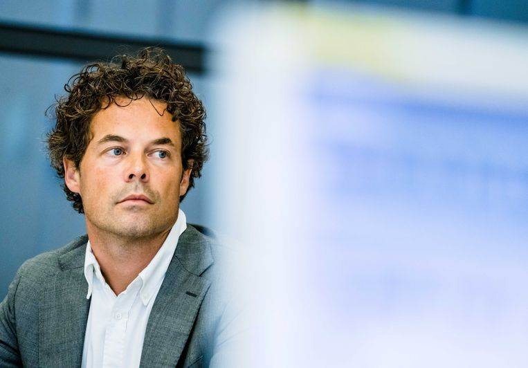 Jeroen van Wijngaarden (VVD) tijdens een overleg in de Tweede Kamer over een initiatiefnota van de leden Yesilgoz-Zegerius en Segers over een effectievere aanpak van antisemitisme. Beeld ANP