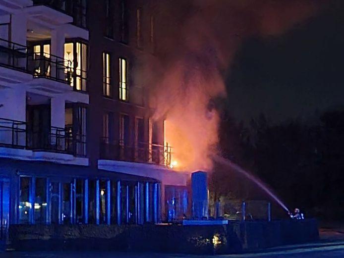 Brand in wooncomplex de Stadshagen in Delden.