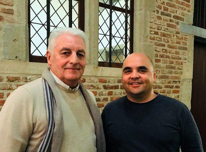 Groen-fractieleider David Wemel (rechts), samen met Groen-raadslid Philippe Avijn. Archiefbeeld.