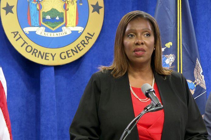 Letitia James, de openbare aanklager van New York.