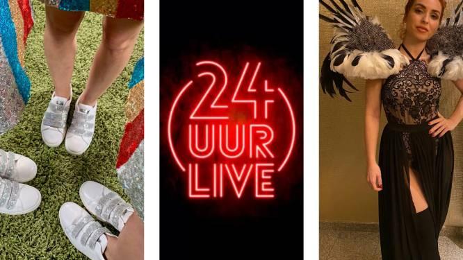 """Deze outfit dragen K3, Lindsay, 2 Fabiola en James Cooke tijdens 24 UUR LIVE: """"Mensen kijken vanuit hun living, dus het moet speels en plezant zijn"""""""
