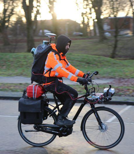 Unieke proef met fiets vol camera's brengt elke millimeter van F59 digitaal in kaart
