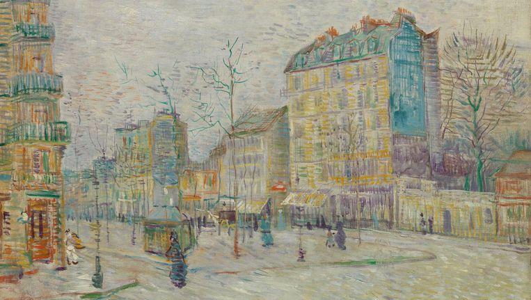 Boulevard de Clichy, 1887 Beeld Vincent van Gogh