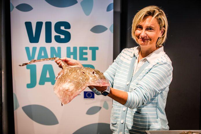 de rog werd  te Oostende uitgeroepen tot de vis van het jaar