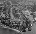 Een overzichtsfoto van Sliedrecht in 1958.