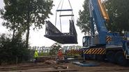 Metalen constructie Notelaarsbrug geplaatst