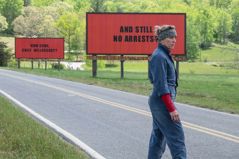 Frances McDormand in 'Three Billboards Outside Ebbing, Missouri'. Beeld AP