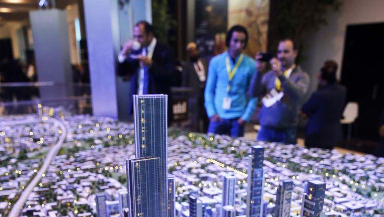 Een model van de nieuwe Egyptische hoofdstad. Beeld reuters