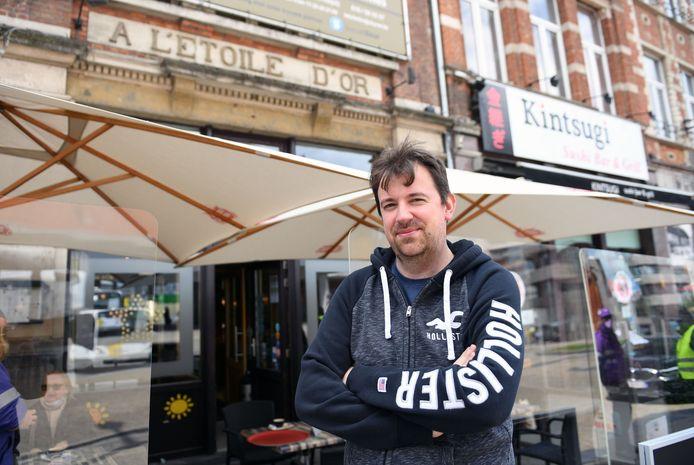 Het restaurant van Kevin Vanderauwera zou vandaag gesloten blijven maar daar besliste de onverwacht zonnige dag anders over.