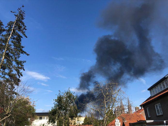 Grote brand in skicentrum Uden