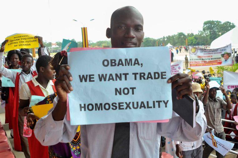 In Afrika wordt homoseksualiteit soms gezien als iets dat geïmporteerd is uit het Westen. Beeld epa