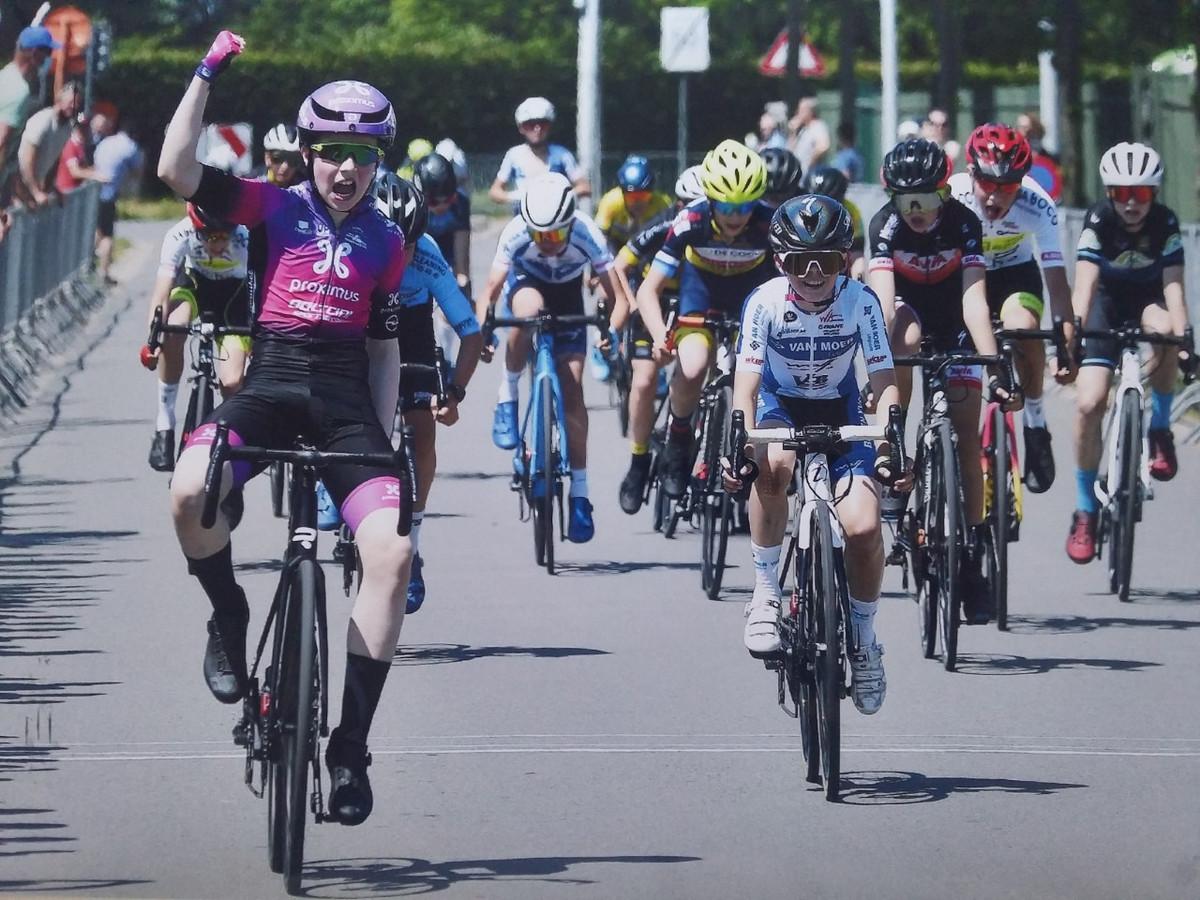 Mats De Ridder was in Beveren de snelste bij de twaalfjarige aspiranten.