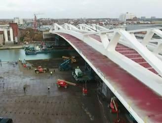 Laatste deel van nieuwe 'brug van het Sportpaleis' ingevaren