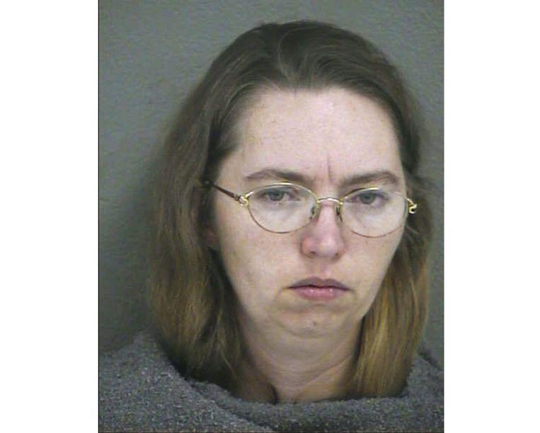 De ter dood veroordeelde Lisa Montgomery op een politiefoto uit 2004. Beeld AFP