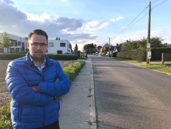 """Simon Vandermeulen : """"In 2024 gaat de gemeente Glabbeek de fietspaden in de Butschovestraat volledig vernieuwen tot aan de grens met Binkom."""""""
