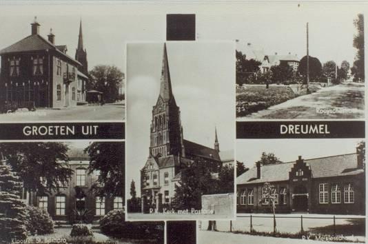 Een oude ansichtkaart van Dreumel.