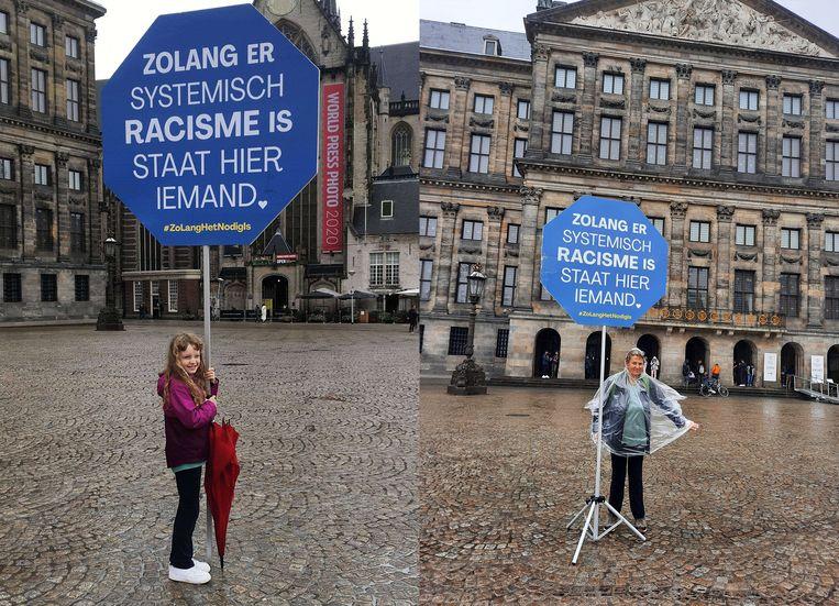 Sinds juni vorig jaar kun je ze tegenkomen op de Amsterdamse Dam: mensen die in hun eentje actievoeren tegen 'systemisch racisme'. Onder de noemer 'Zolang het nodig is' hebben ze als doel om net zo lang naar de Dam te komen tot systemisch racisme is uitgebannen. De activisten wisselen elkaar ieder uur af; volgens de organisatie deden er inmiddels honderden mensen mee. Vanaf oktober wordt er alleen op vrijdag en zaterdag actie gevoerd, maar vanaf 12 juni wordt de eenmansdemonstratie ook voor één week op andere dagen gehouden.  Beeld zolanghetnodigis.nl