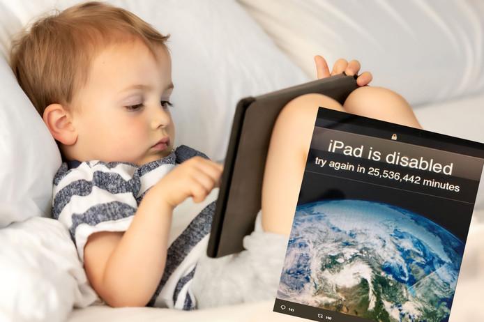Kleuter tikt iets te veel foute paswoorden in op iPad vader: Probeer het over 48 jaar nog eens