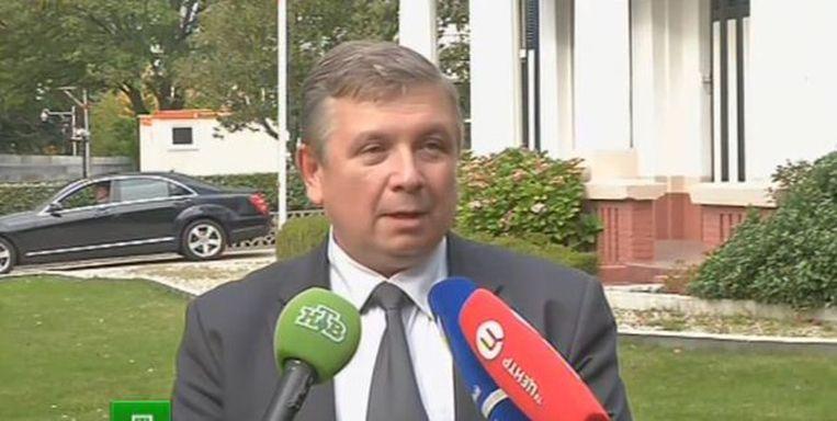 Borodin in een interview met de Russische zender NTV Beeld NTV