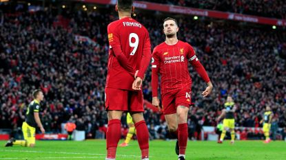 Liverpool blijft met 73 op 75 buiten categorie in Engeland, Samatta scoort z'n eerste voor Aston Villa