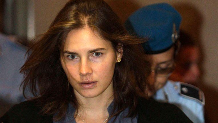 Archieffoto: Amanda Knox tijdens haar terechtstelling in Italië. Beeld REUTERS