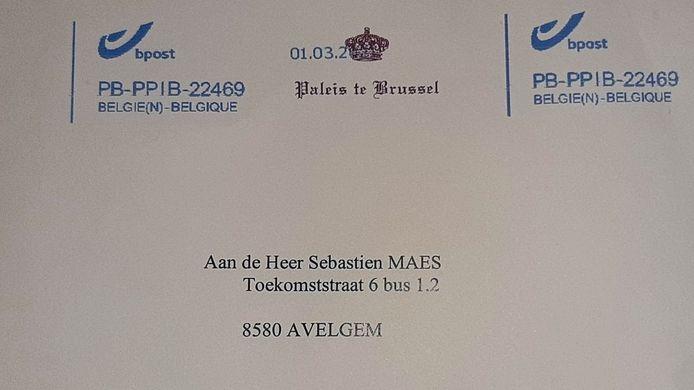 De brief van het koninklijk paleis.