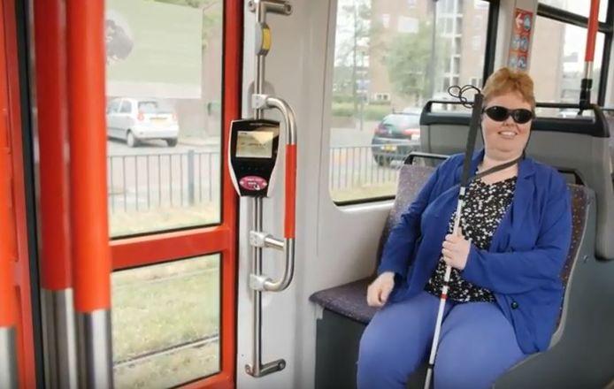 Beperkten slechtzienden tram
