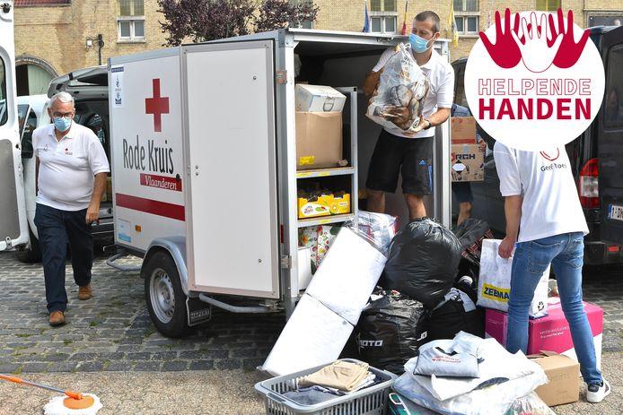 Ook in Wervik trok een golf van solidariteit zich op gang voor de slachtoffers van de zondvloed. Ook vrijwilligers van het Rode Kruis toonden zich weer van hun beste kant.